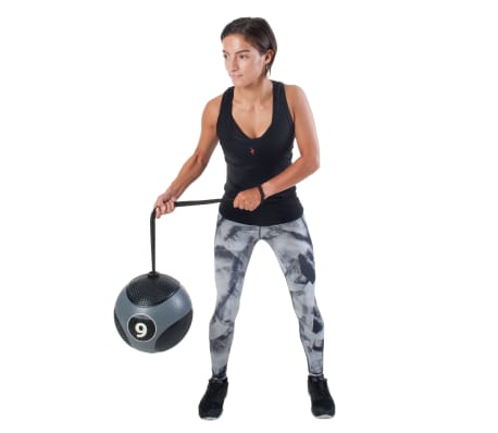 Pure2Improve Medisinball med tau 6 kg grå[11/14]