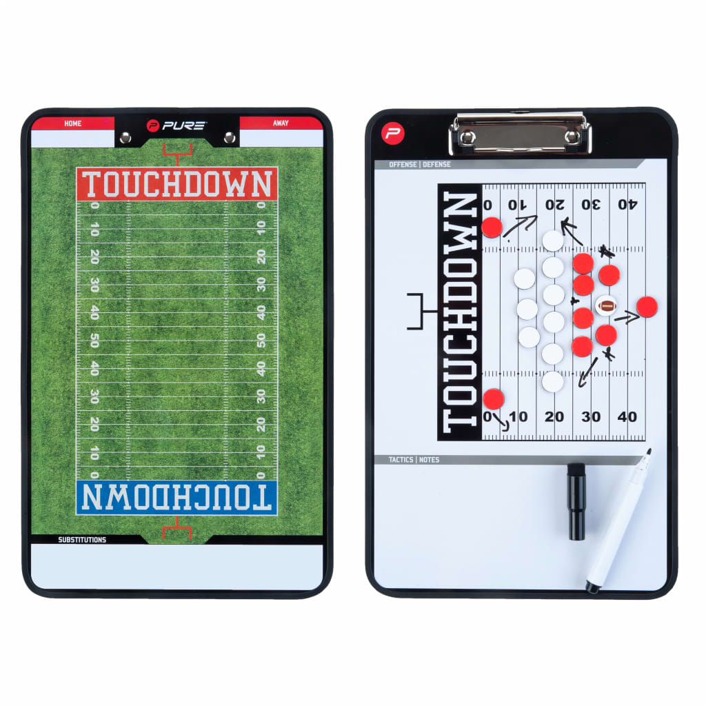 Pure2Improve American Football CoachBoard Grün und Weiß