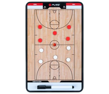 Pure2Improve dobbeltsidet basketballtrænertavle 35 x 22 cm P2I100620[1/7]