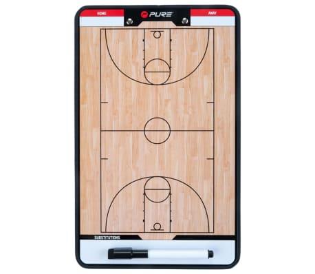 Pure2Improve dobbeltsidet basketballtrænertavle 35 x 22 cm P2I100620[3/7]