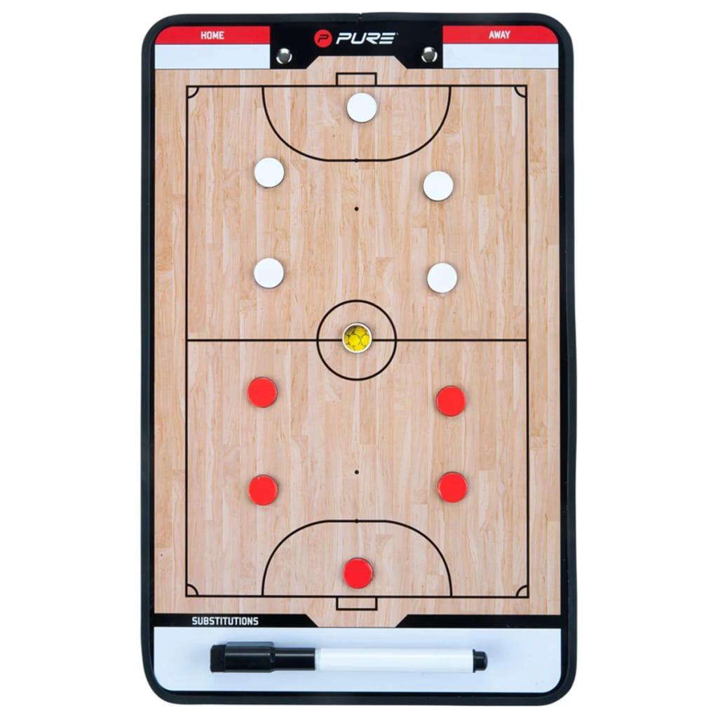 Pure2Improve Planșă tactică antrenor de fotbal în sală 35 x 22 cm