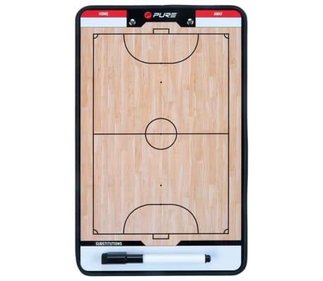 Pure2Improve Pizarra táctica de fútbol sala 2 caras 35x22 cm P2I100650[3/7]