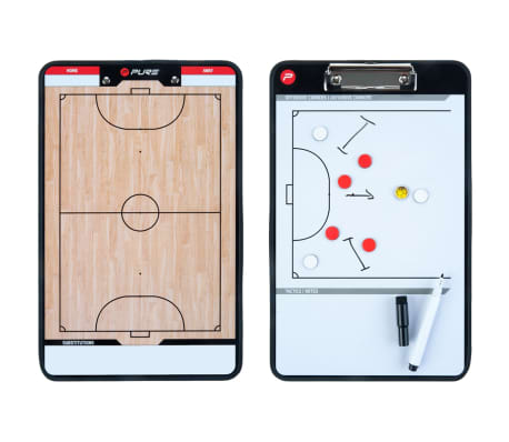 Pure2Improve Pizarra táctica de fútbol sala 2 caras 35x22 cm P2I100650[5/7]