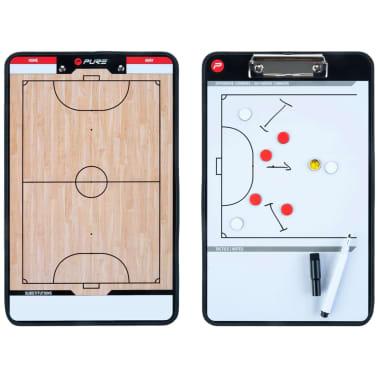 Pure2Improve Pizarra táctica de fútbol sala 2 caras 35x22 cm P2I100650[4/7]