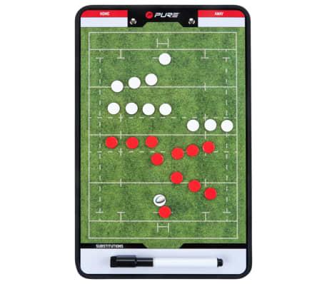 Pure2Improve Pizarra de entrenador de rugby 2 caras 35x22 cm P2I100670[1/6]