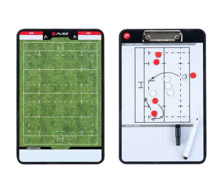 Pure2Improve Pizarra de entrenador de rugby 2 caras 35x22 cm P2I100670[4/6]