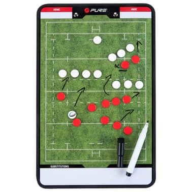Pure2Improve Pizarra de entrenador de rugby 2 caras 35x22 cm P2I100670[2/6]