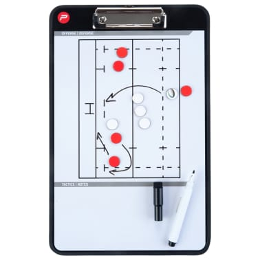 Pure2Improve Pizarra de entrenador de rugby 2 caras 35x22 cm P2I100670[5/6]