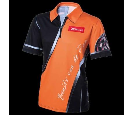 XQmax Darts T-shirt réplique de match BvdP Orange Taille XS QD9200210[2/6]