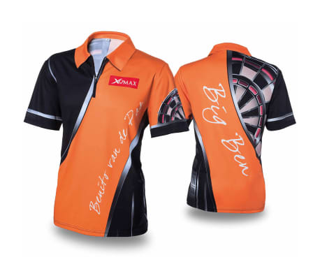 XQmax Darts BvdP replika kampskjorte oransje størrelse M QD9200230