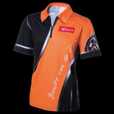 XQmax Darts T-shirt réplique de match BvdP Orange Taille XXXL QD9200270[2/6]
