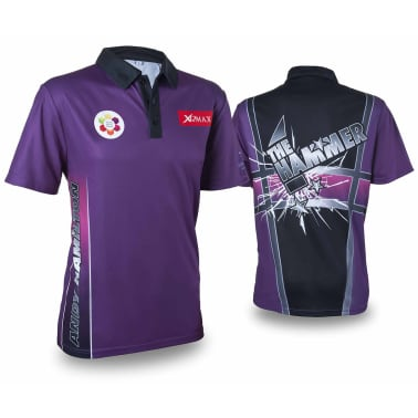 XQmax Darts T-shirt Andy Hamilton Violet Taille XS QD9200310[1/6]