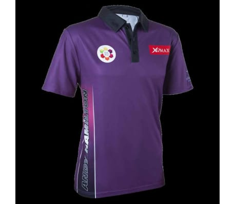XQmax Darts T-shirt Andy Hamilton Violet Taille XS QD9200310[2/6]