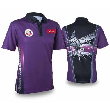 XQmax Darts Réplica de camiseta Andy Hamilton morada S QD9200320[1/6]