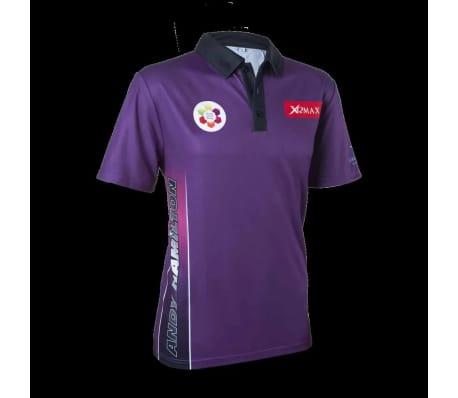 XQmax Darts Réplica de camiseta Andy Hamilton morada S QD9200320[2/6]