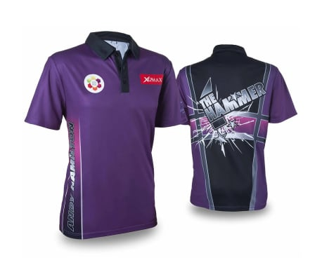 XQmax Darts T-shirt Andy Hamilton Violet Taille M QD9200330[1/6]