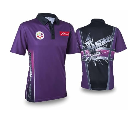 XQmax Darts T-shirt Andy Hamilton Violet Taille L QD9200340[1/6]