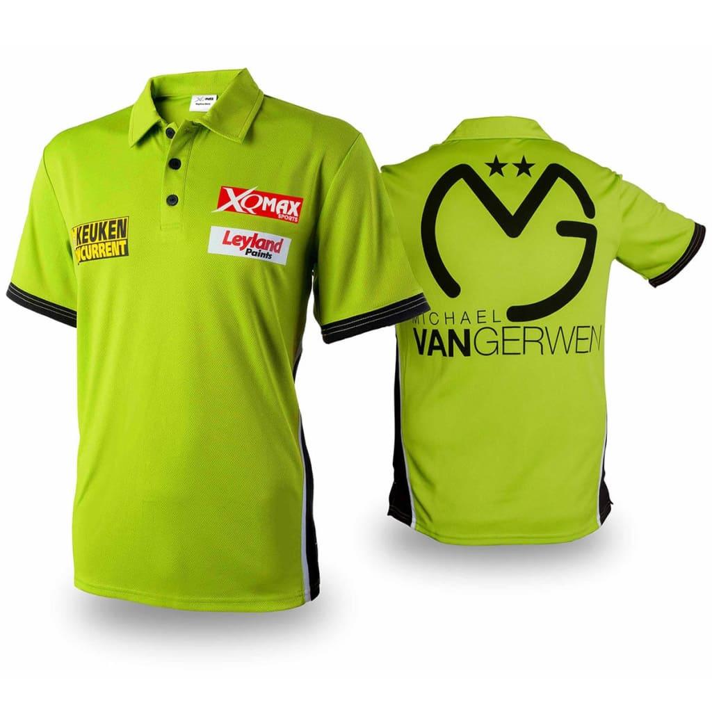 XQmax Darts Réplica de camiseta MvG verde talla S QD9200520