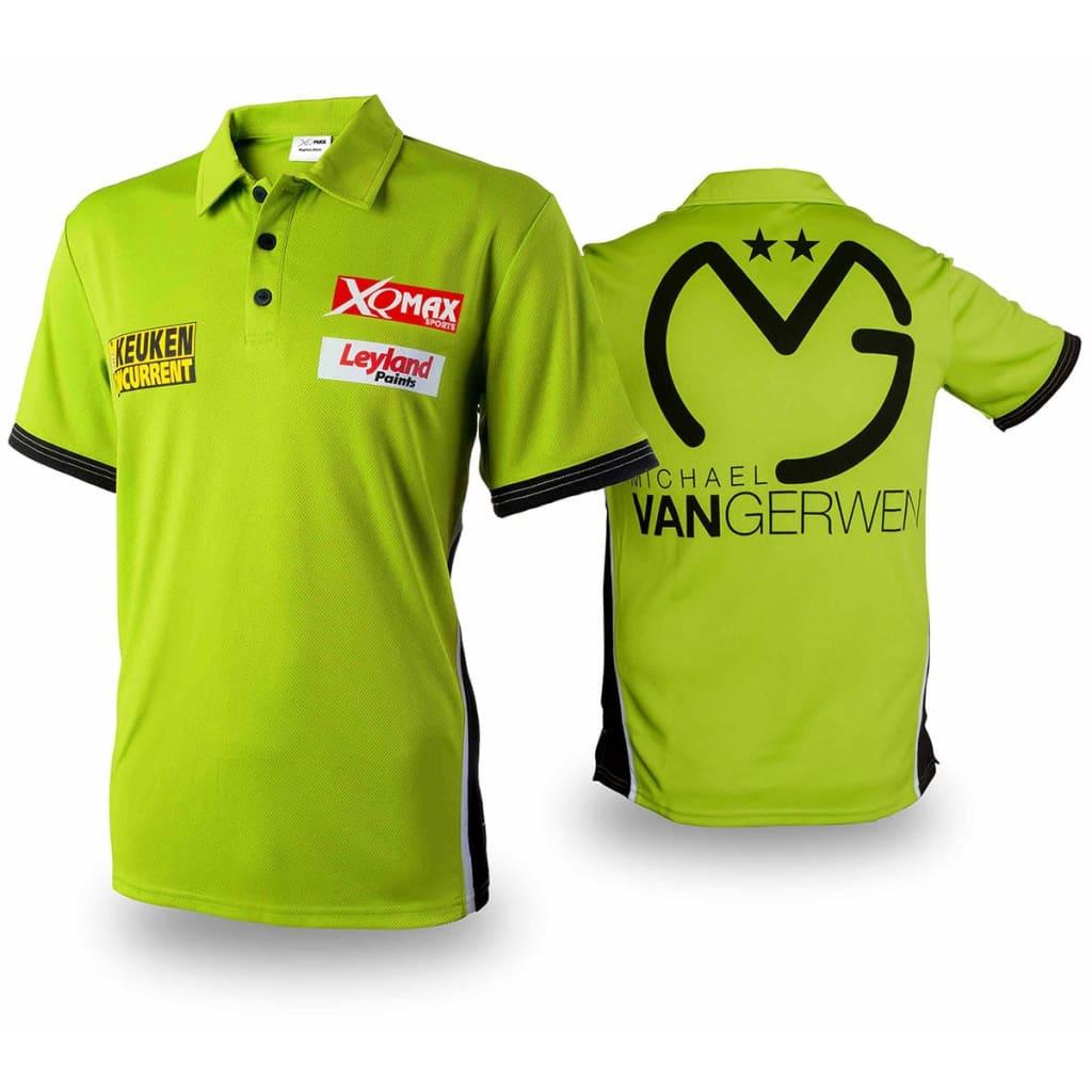 XQmax Darts Réplica de camiseta MvG verde talla XL QD9200550