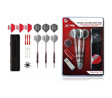 XQmax Darts Vernickeltes Darts-Set 30-tlg. 21 g Stahlspitzen QD7000680[1/4]