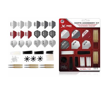 XQmax Darts Kit d'accessoires fléchettes 90 pcs Pointe acier 23g QD7000700[1/4]
