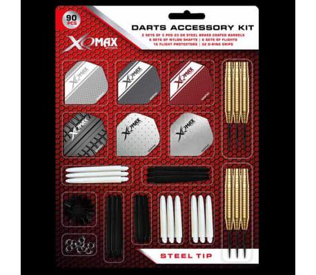 XQmax Darts Kit d'accessoires fléchettes 90 pcs Pointe acier 23g QD7000700[4/4]