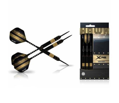 XQmax Darts Set de dardos Hawk 3 piezas 23g latón acero QD1103140[1/3]