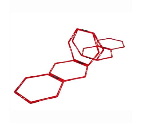 Pure2Improve Agility-hinder hexagon 6 delar röd