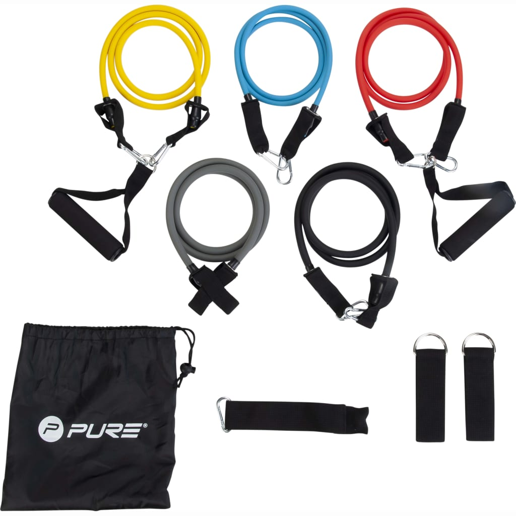 Pure2Improve Set tuburi elastice pentru fitness imagine vidaxl.ro