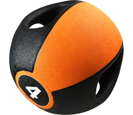 Pure2Improve Medizinball mit Griffen 4 kg Orange