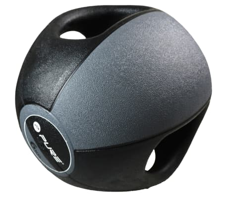 Pure2Improve Medisinball med håndtak 6 kg grå[2/5]