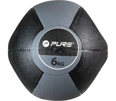 Pure2Improve Medisinball med håndtak 6 kg grå[4/5]