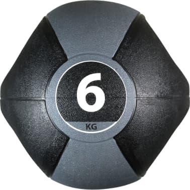 Pure2Improve Medisinball med håndtak 6 kg grå[3/5]
