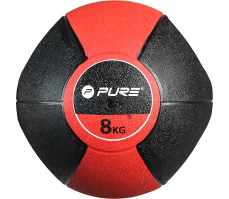 Pure2Improve Medisinball med håndtak 8 kg rød[4/5]