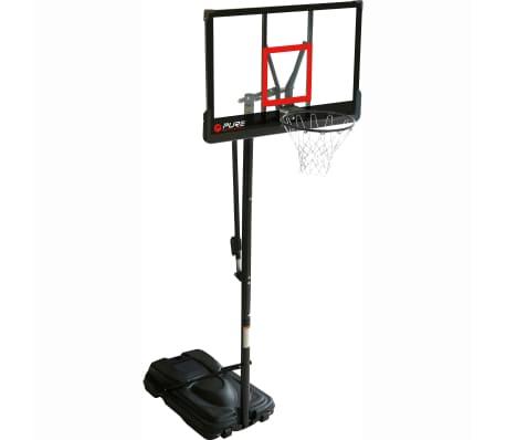 Pure2Improve Panier de basket sur pied portable Deluxe 110 x 76 cm[1/2]