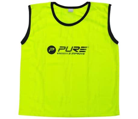 Pure2Improve Petos de entrenamiento 4 unidades rojo talla senior