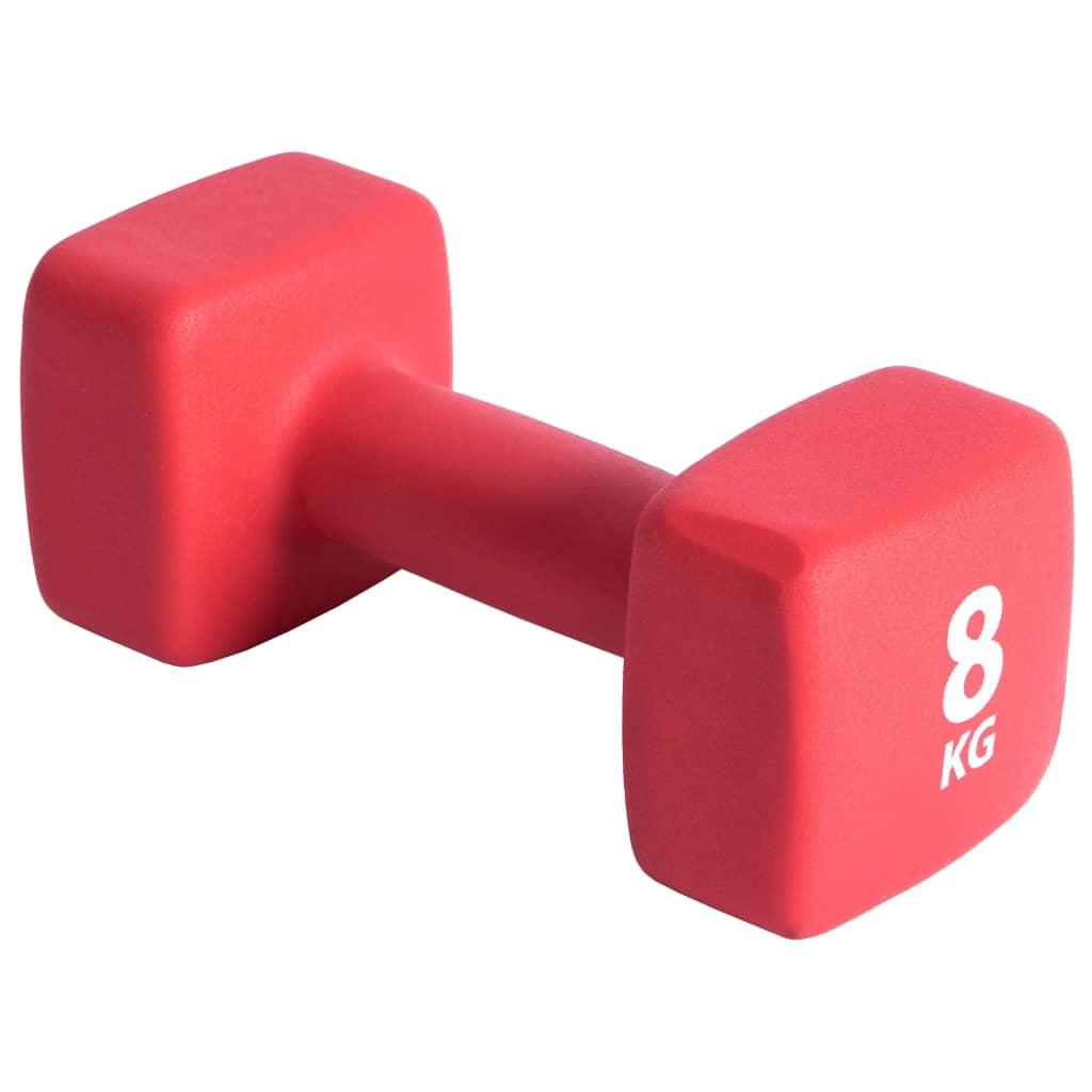 Pure2Improve Ganteră, roșu, neopren, 8 kg poza 2021 Pure2Improve