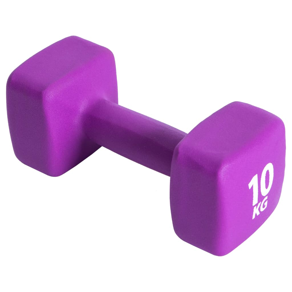 Pure2Improve Ganteră, violet, neopren, 10 kg imagine vidaxl.ro
