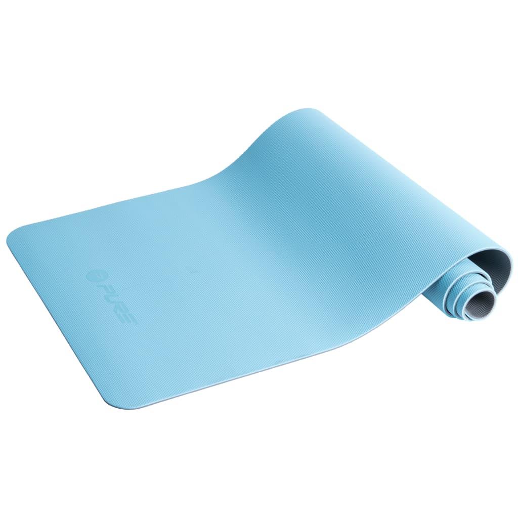 Pure2Improve Saltea yoga, albastru și gri, 173 x 58 x 0,6 cm poza vidaxl.ro