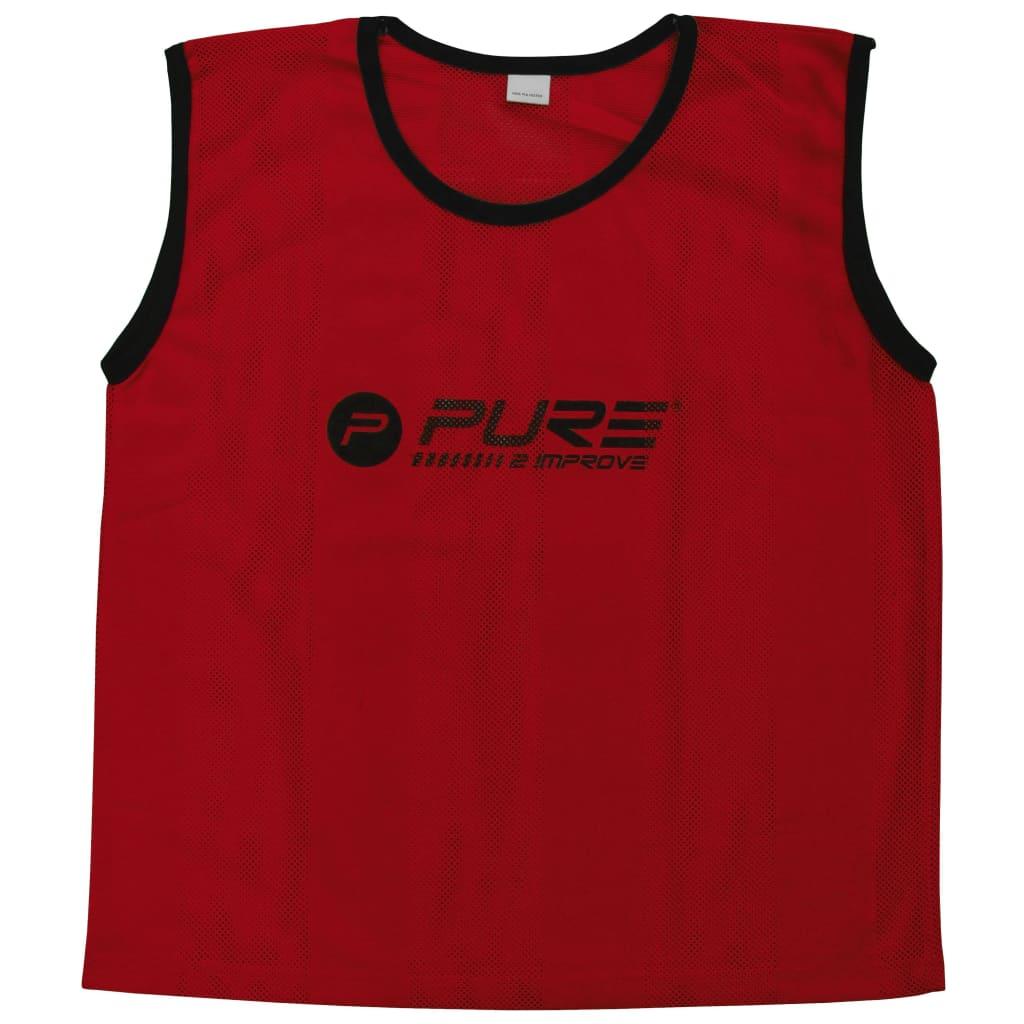 Pure2Improve Training-Trikots 4 Stk. Mini Rot
