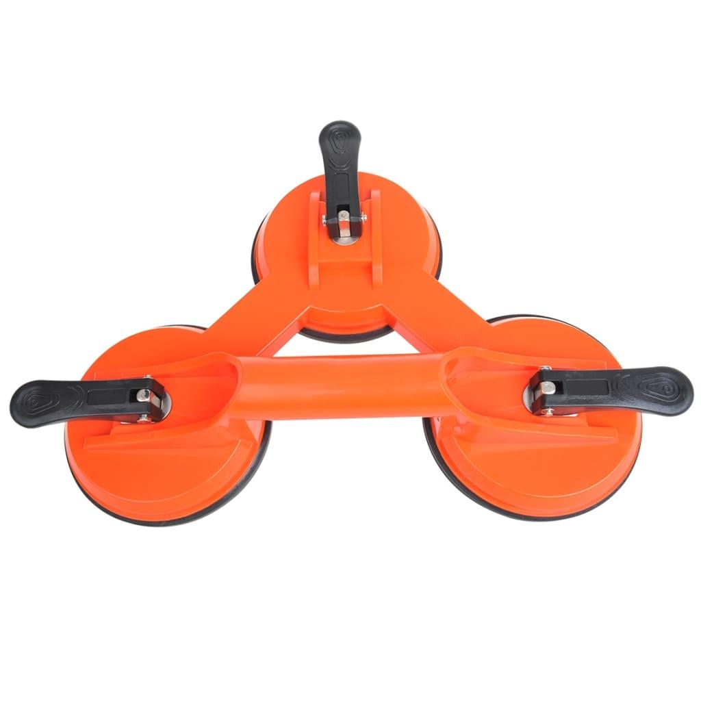 ProPlus Dispozitiv ridicare vacuum cu 3 ventuze, portocaliu, plastic vidaxl.ro