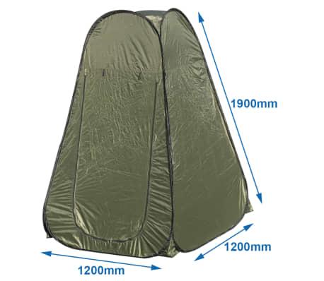 Handla ProPlus Pop up duschtält polyester grön | vidaXL.se