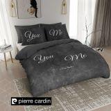 Pierre Cardin Dekbedovertrek Stone Look Antraciet-140x200/220