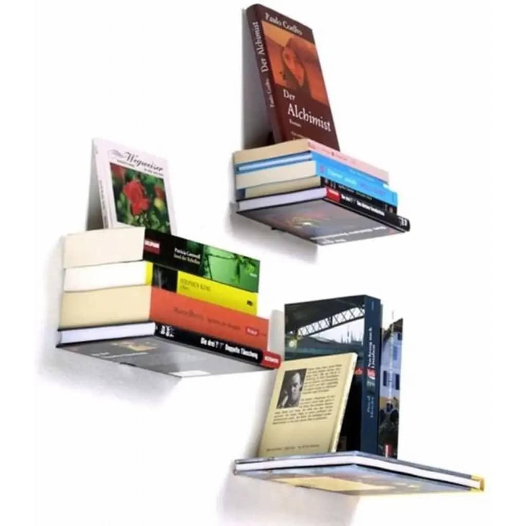 Afbeelding van AA Commerce 2X Zwevende Boekenplank Onzichtbare Wandplank Voor
