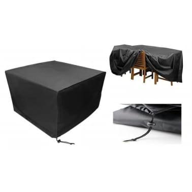 Beschermhoes Tuinmeubelen Zwart Loungeset 123x123x74 ( l x b x h )[1/6]