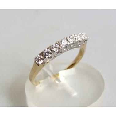 8dba550fd12 Occasion 14 karaat gouden zirkonia ring online kopen | vidaXL.nl