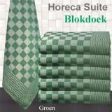Theedoek Pompdoek Blokdoek Chess Groen 70 x 70 cm (10 stuks)