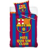 FC Barcelona Dekbedovertrek Més Que 140 x 200 cm rood/blauw