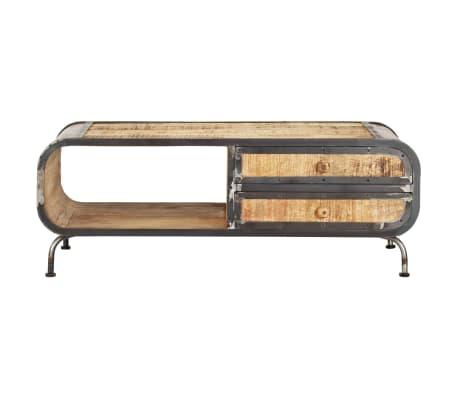 vidaXL Kavos staliukas, 100x50x35 cm, mango medienos masyvas[2/14]