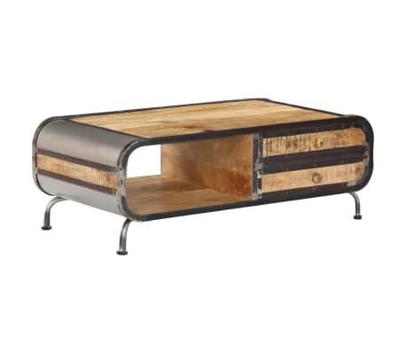 vidaXL Kavos staliukas, 100x50x35 cm, mango medienos masyvas[13/14]